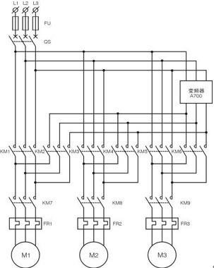 l1-l2-l3:三相交流电源fu(fu1-fu2-fu3):熔断器