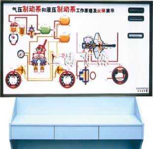 液压制动和气压制动工作原理及故障演示台