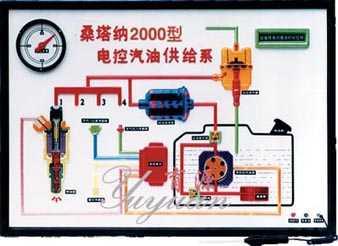 桑塔纳电控汽油供给系电教板