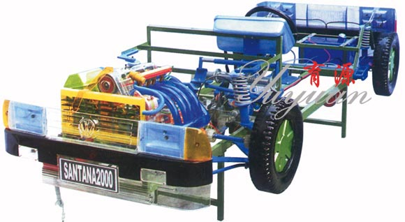 桑塔纳2000型透明整车模型