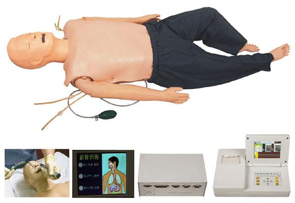 高级多功能急救训练模拟人/心肺复苏CPR与气管插管综合功能/嵌入式系统